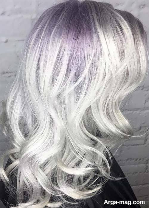 رنگ موی نقره ای روشن