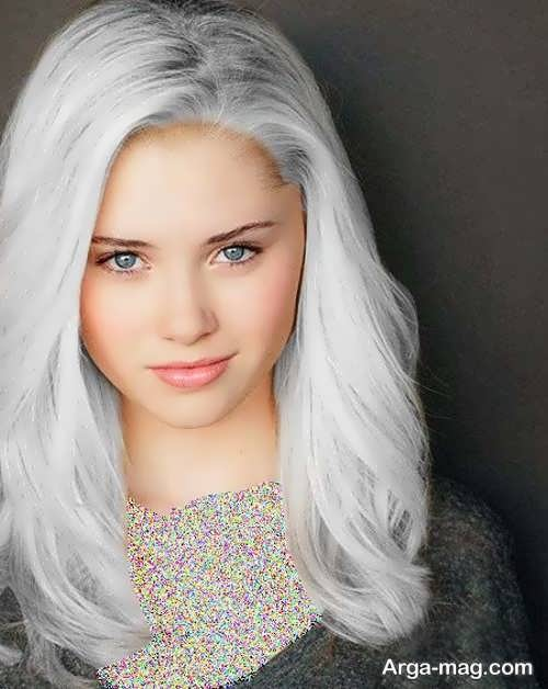 رنگ موی نقره ای یخی