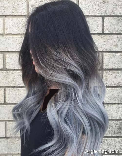 رنگ موی شیک و جذاب نقره ای