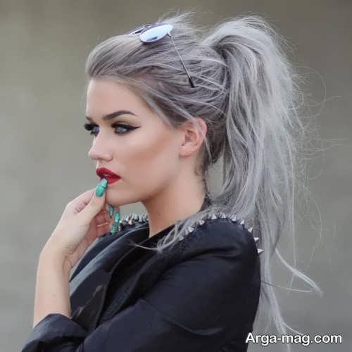 رنگ مو زنانه نقره ای