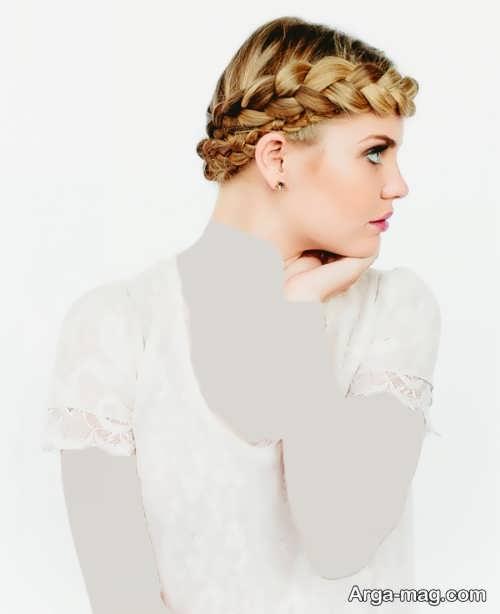 مدل موی بسته دخترانه همراه با بافت