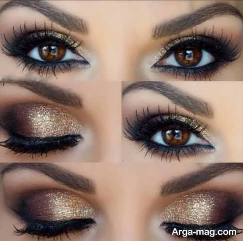 آرایش چشم دودی جذاب