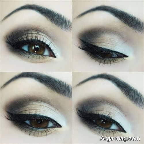 مدل آرایش چشم زنانه دودی