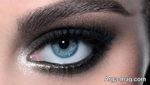 آموزش مدل آرایش چشم دودی