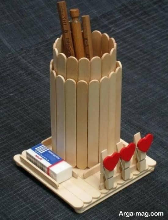 خلاقیت چوبی زیبا