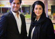 امیر علی نبویان و همسرش بهار