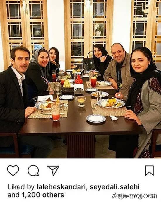 دورهمی نرگس محمدی و همسرش