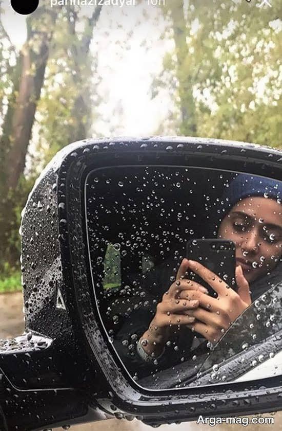 سلفی بارانی پریناز ایزدیار
