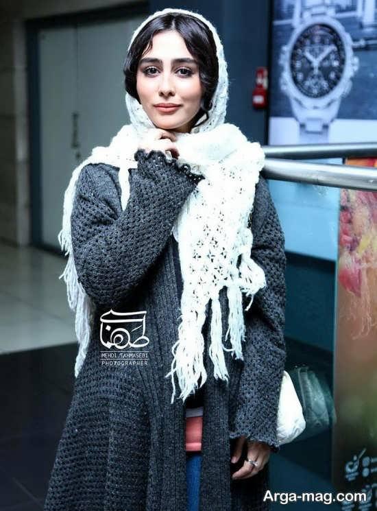 مدل مانتو بافتنی ستاره حسینی