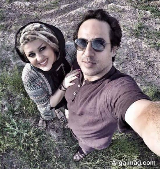 سلفی رامین راستاد و همسرش