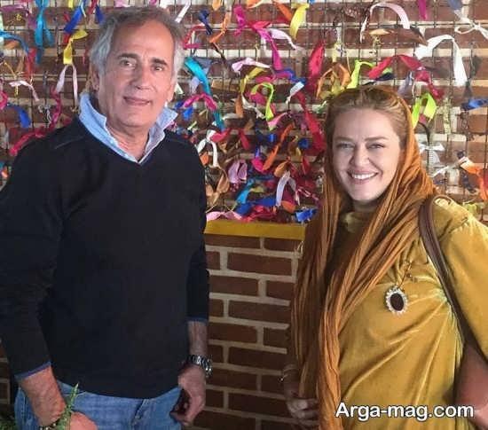 بهاره رهنما و همسرش در کافه مجید مظفری