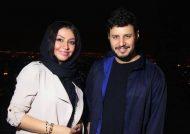 جواد عزتی و همسرش در کنسرت بانی