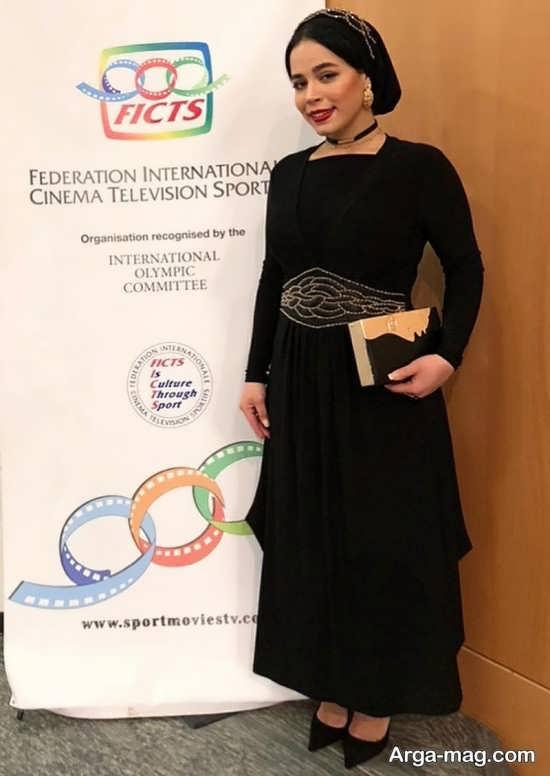 ملیکا شریفی نیا در اختتامیه جشنواره فیلم