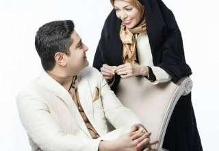 آزاده نامداری و همسرش