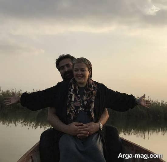عکس زیبای بهاره رهنما و همسرش