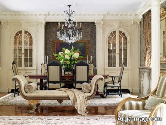 اتاق پذیرایی کلاسیک شیک