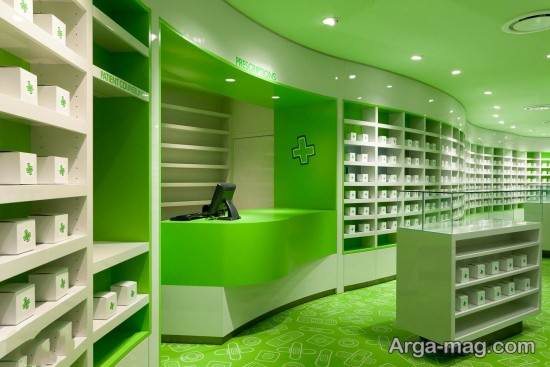 استفاده از رنگ سبز در دکوراسیون داروخانه
