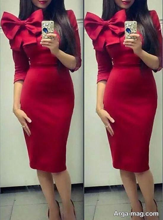 مدل لباس مجلسی زیر زانو برای خانم ها و دختران جوان