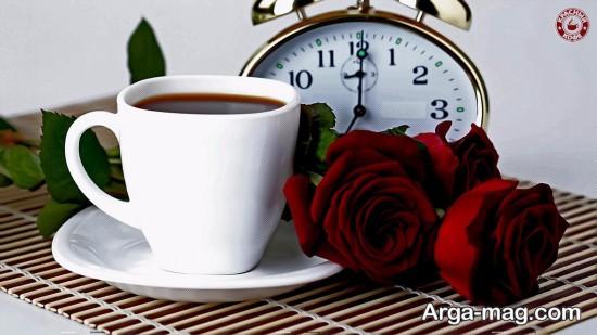 عکس گل رز و ساعت مخصوص پروفایل