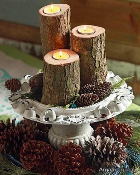 درست کردن جا شمعی با چوب