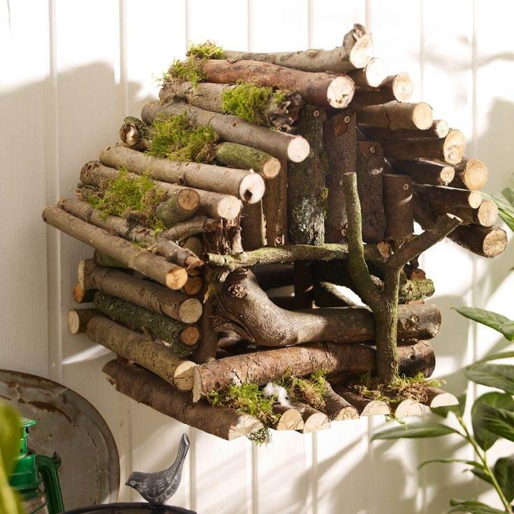 کاردستی با تنه چوب