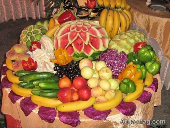 تزیین شیک میوه شب یلدا