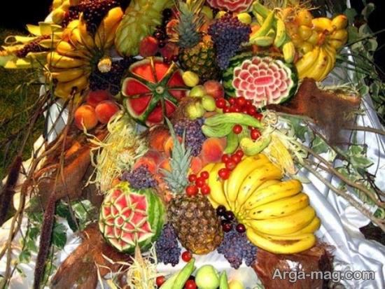 تزیین زیبای میوه شب چله
