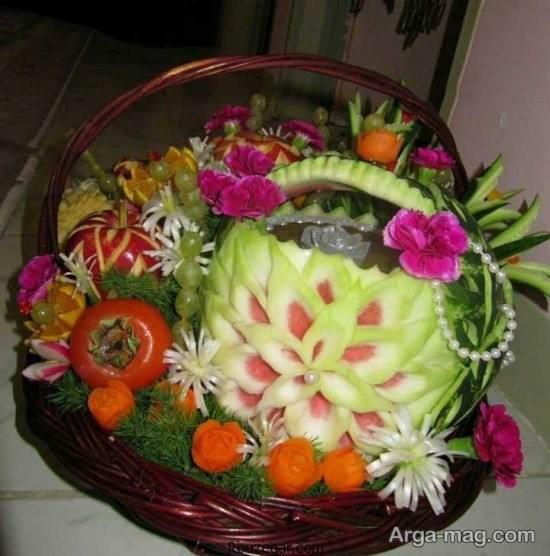 تزیین میوه شب یلدا برای عروس