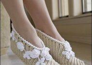 مدل پاپوش گلدار دخترانه