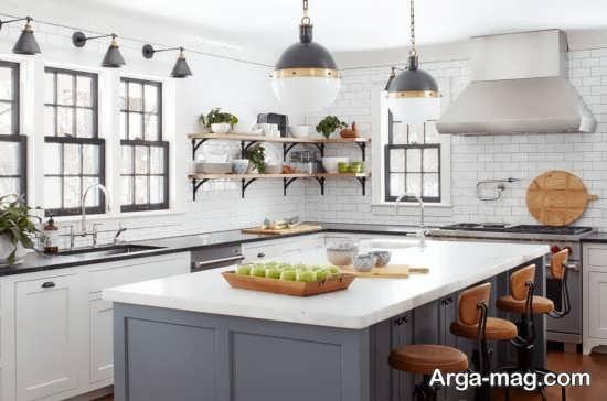 استفاده از لامپ های رشته ای در طراحی فضای داخلی آشپزخانه