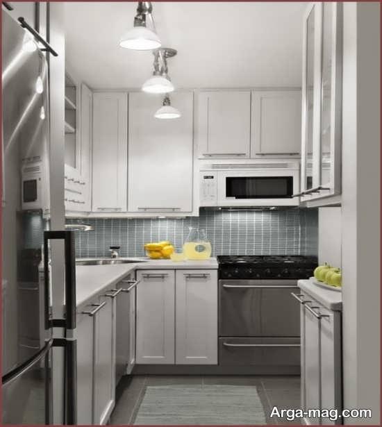 دکوراسیون داخلی آشپزخانه با اندازه کوچک