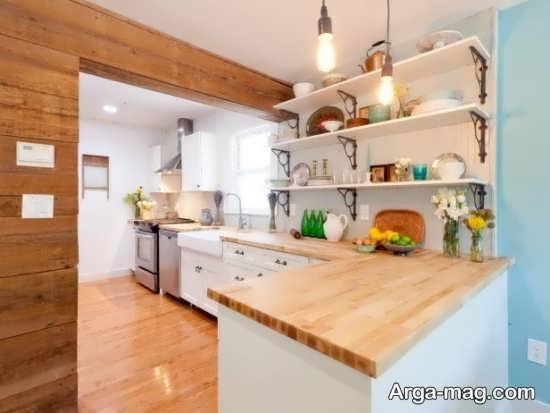 طرحی متفاوت برای چیدمان فضای داخلی آشپزخانه