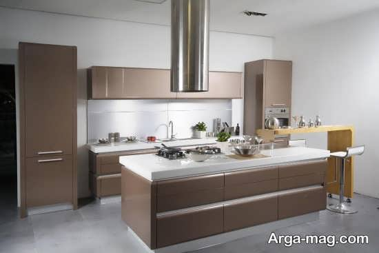 طراحی فضای داخلی آشپزخانه های کوچک به سبک مدرن