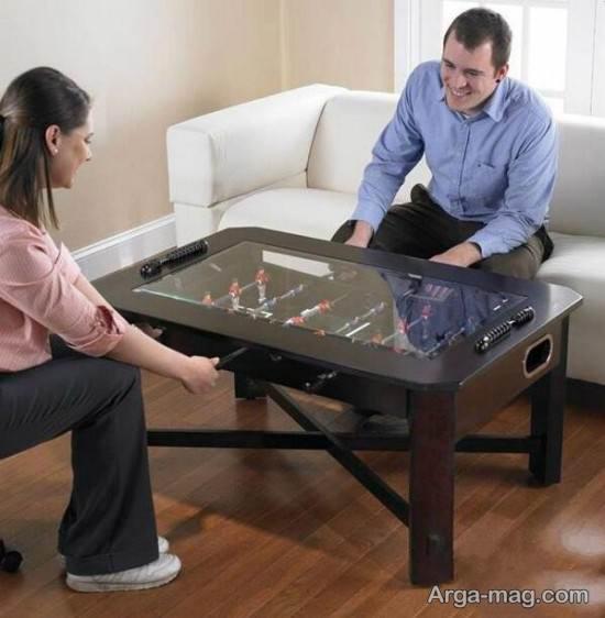 تزیین میز عسلی به شکل فوتبال دستی