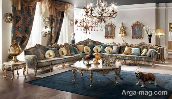 تزیین میز جلو مبلی سلطنتی