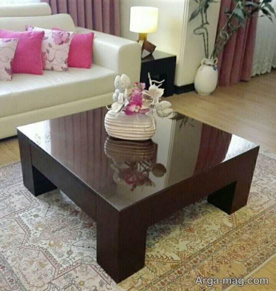 طرح های جدید برای تزیین میز جلو مبلی