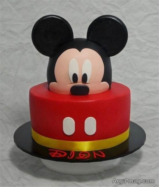 تزیین جذاب کیک تولد میکی موس