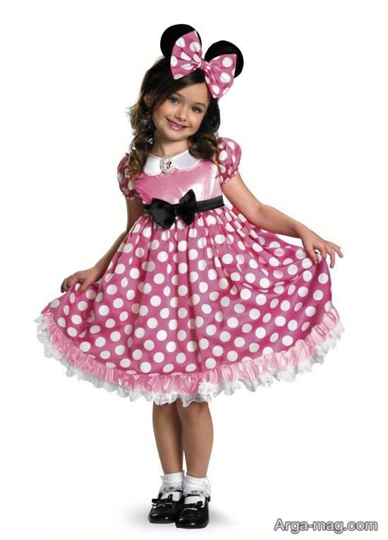 لباس دخترانه با تم تولد میکی موس