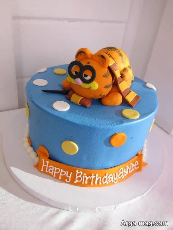 کیک فوق العاده با تم گارفیلد