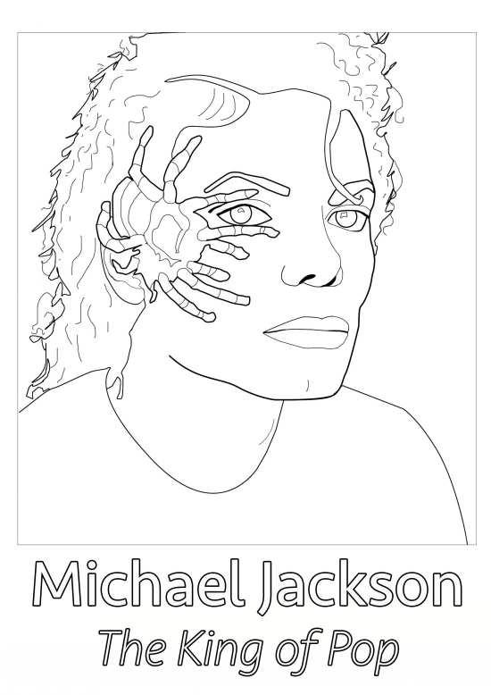 طرح رنگ آمیزی مایکل جکسون