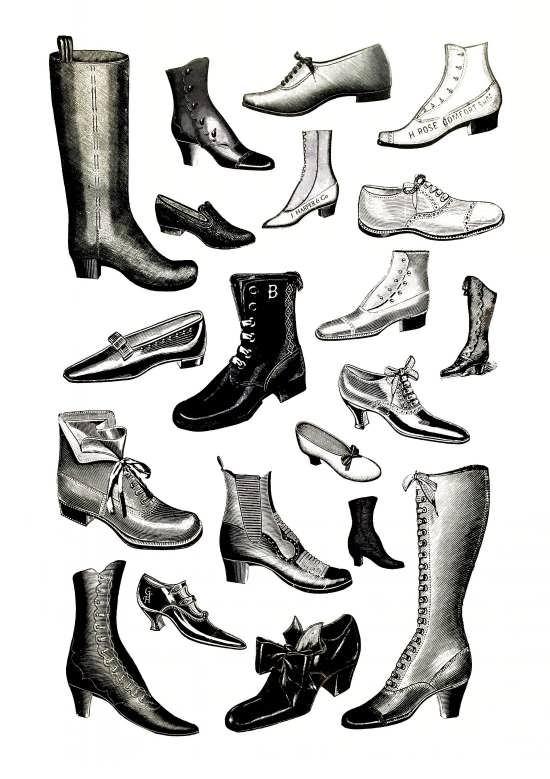 طرح رنگ آمیزی کفش