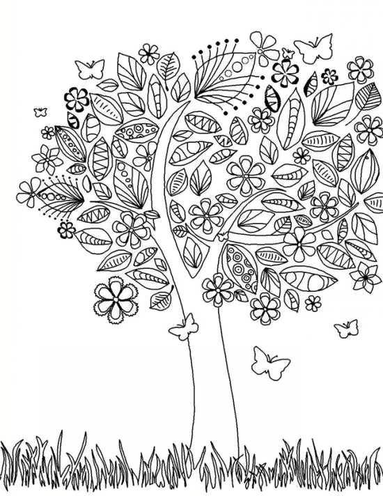 طرح رنگ آمیزی درخت