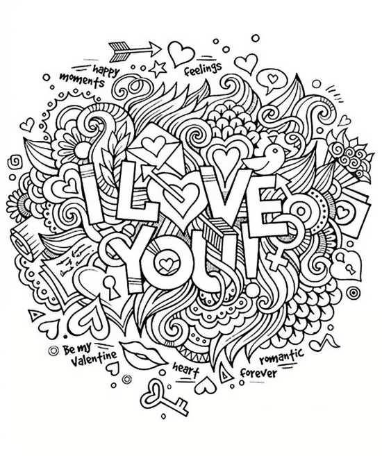 طرح رنگ آمیزی I LOVE YOU