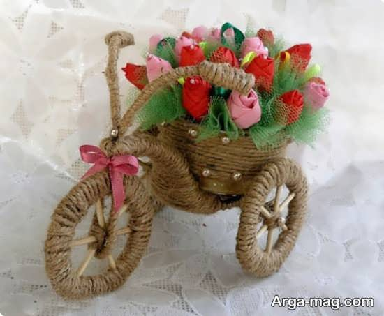 کار دستی دوچرخه زیبا