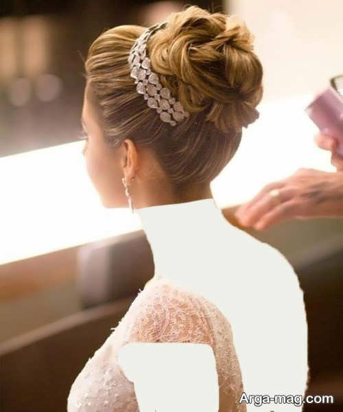 مدل آرایش موی بسته عروس