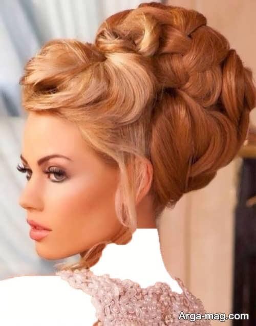 مدل آرایش موی بسته و شیک عروس