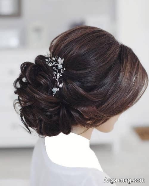 مدل شینیون موی بسته عروس