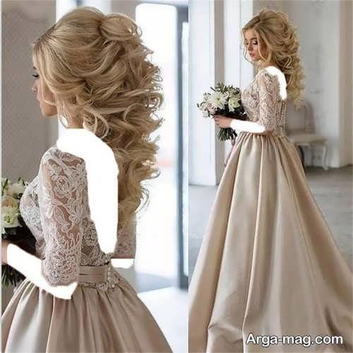 مدل شینیون باز عروس