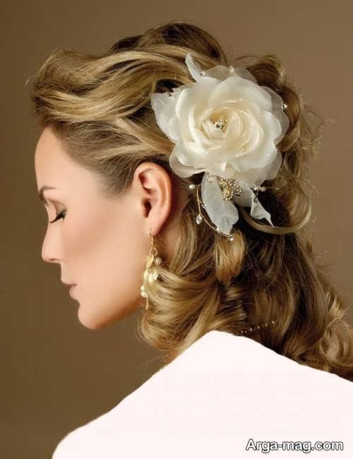 مدل آرایش موی باز عروس