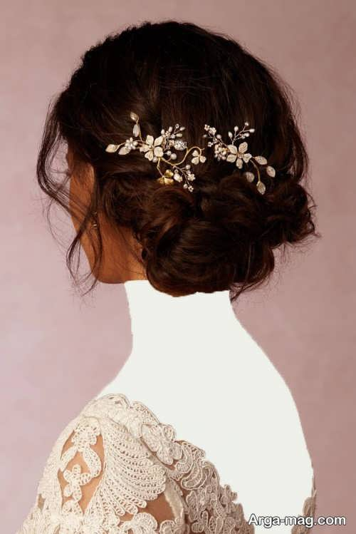 مدل شینیون بسته عروس